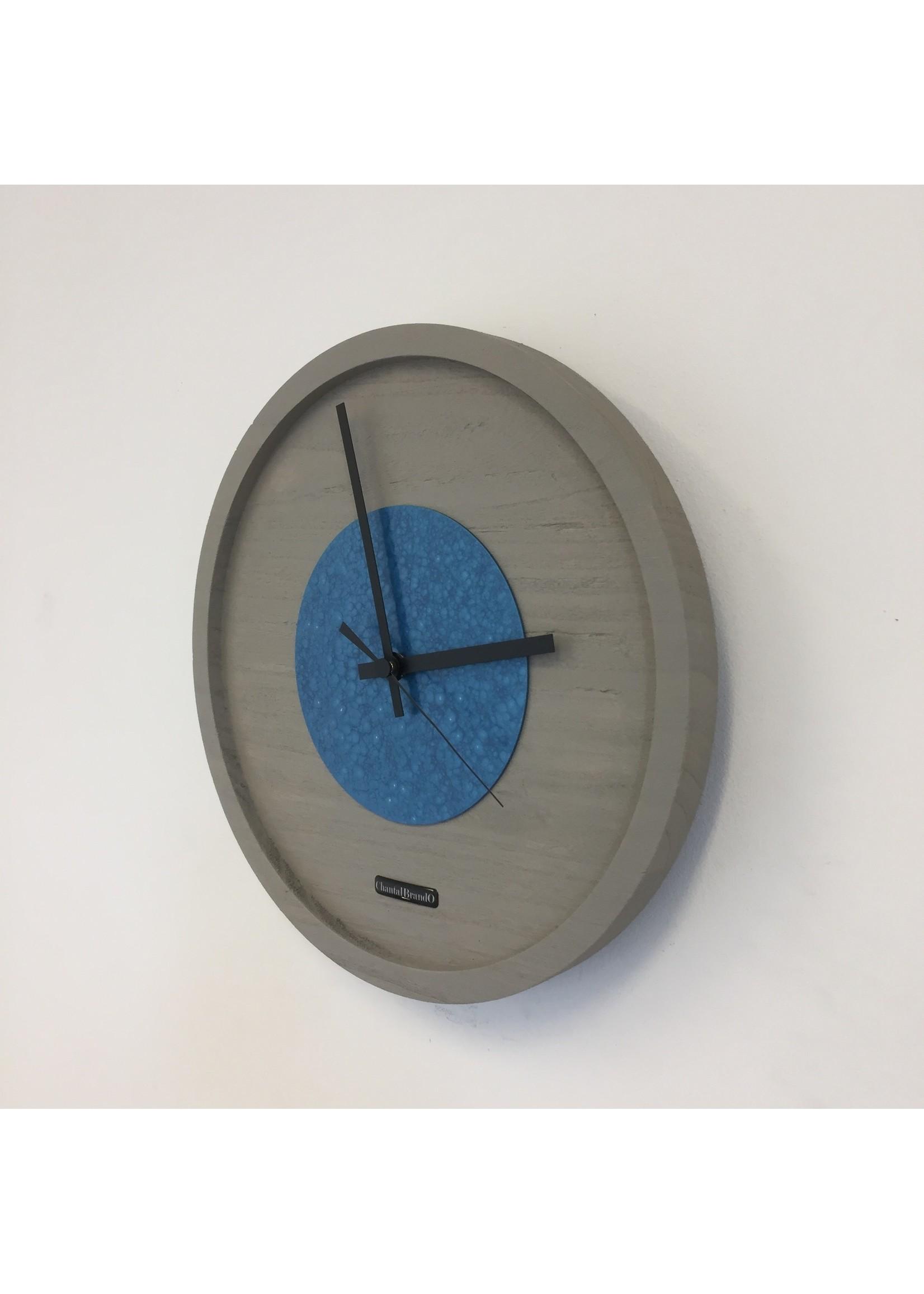 Klokkendiscounter Wandklok Quinten Blue Hammer Modern Design