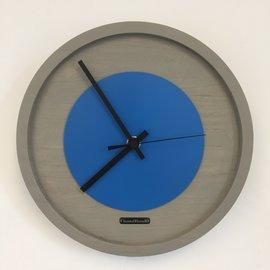 Klokkendiscounter Wandklok Quinten BLUE Modern Design