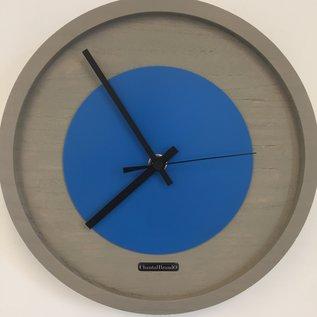 Klokkendiscounter Wanduhr Quinten BLUE Modern Design