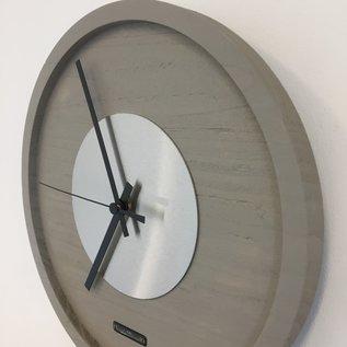Klokkendiscounter Wanduhr Quinten Zilver Modern Design
