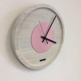 ChantalBrandO Wandklok Quinten White & Pink