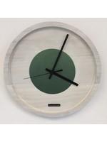 Klokkendiscounter Wandklok Quinten White & Green Modern Design