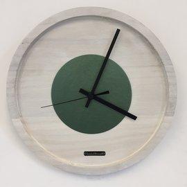 Klokkendiscounter Wanduhr Quinten White & Green Modernes Design