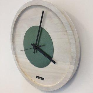 ChantalBrandO Wandklok Quinten White & Green Modern Design