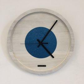 Klokkendiscounter Wanduhr Quinten White & Blue Hammer DUTCH Modernes Design