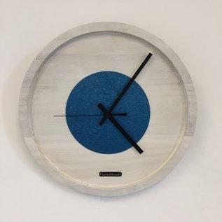 ChantalBrandO Wandklok Quinten White & Blue Hammer Modern DUTCH Design