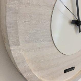 Klokkendiscounter Wanduhr Quinten White On White Modern DUTCH Design