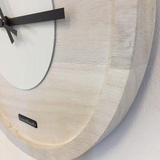 ChantalBrandO Wandklok Quinten White On White Modern DUTCH Design