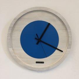 Klokkendiscounter Wanduhr Quinten White & Blue Modernes Dutch Design
