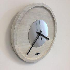Klokkendiscounter Wanduhr Quinten White & Silber Moderne Dutch Design