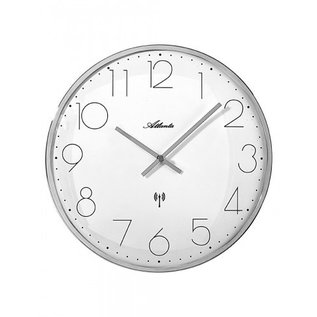NiceTime Wanduhr zilver modern design