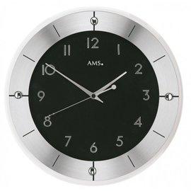 NiceTime Wandklok zwart en zilver modern design