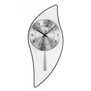 Atlanta Wandklok slinger zilver modern design