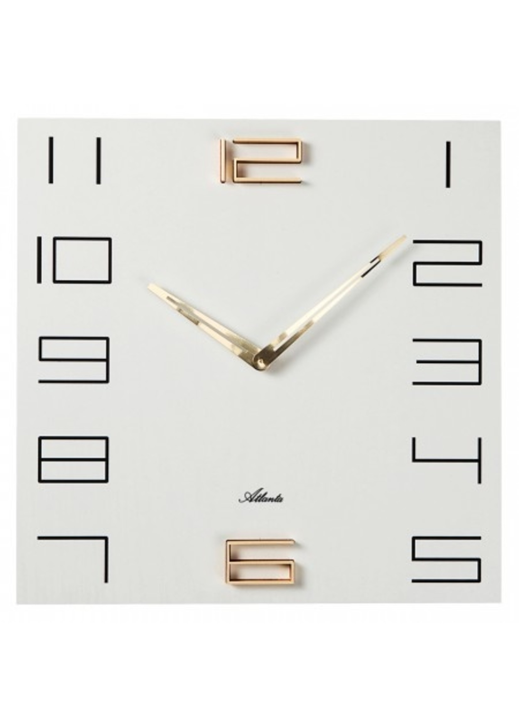 Klokkendiscounter Wandklok Wit en Goud modern design