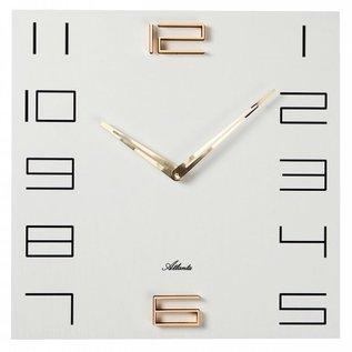 Klokkendiscounter Wanduhr Wit en Goud modern design