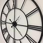 Klokkendiscounter Wandklok Industrial Design Vintage RETRO BLACK 100