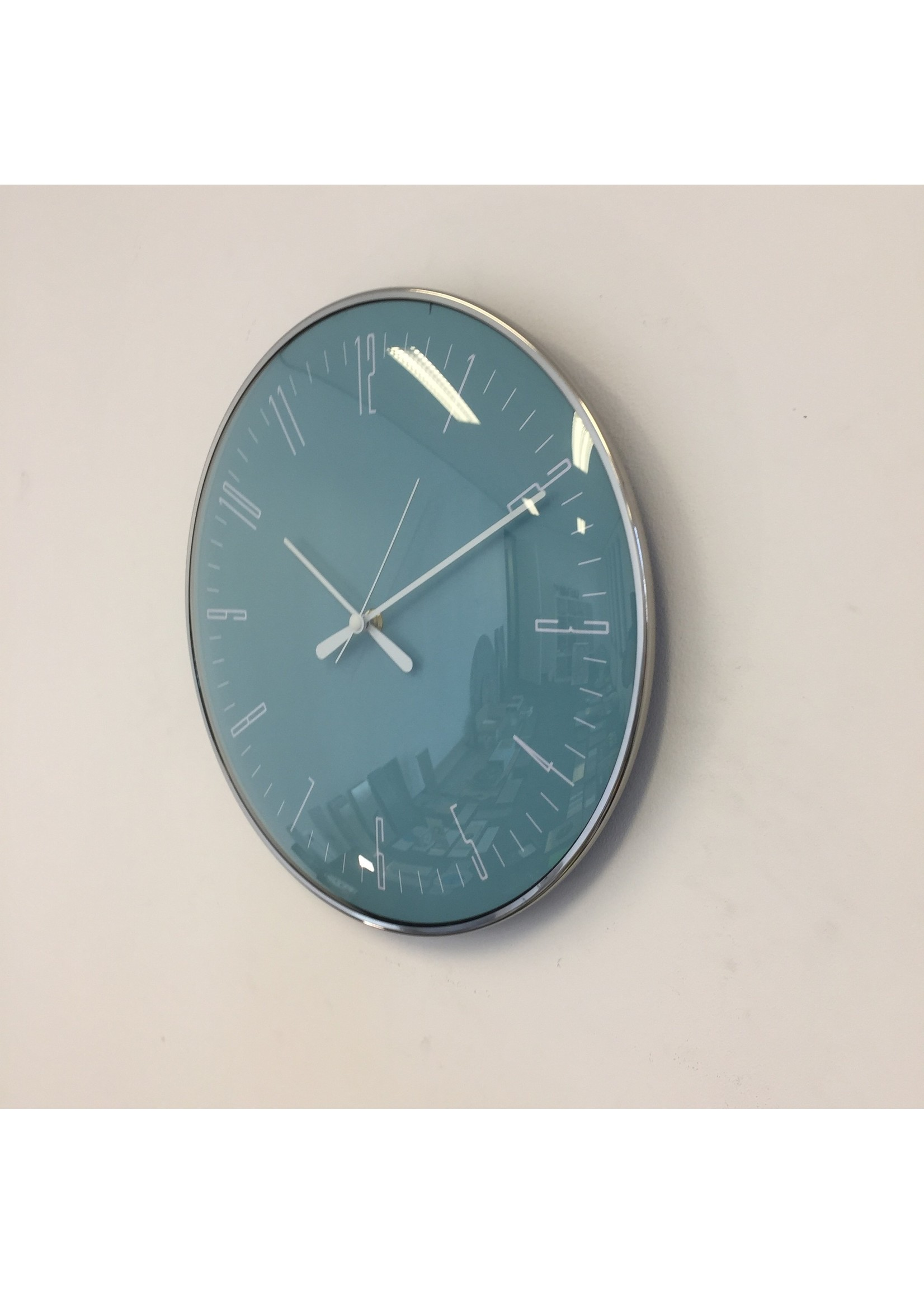 NiceTime Wandklok Blue STYLUS Modern Design