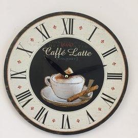 NiceTime Wandklok CAFÉ LATTE vintage retro design