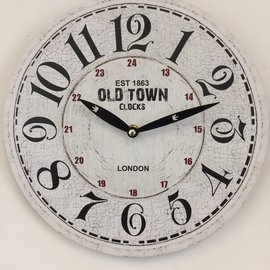 NiceTime Wandklok OLD TOWN LONDON RETRO VINTAGE DESIGN