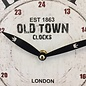 NiceTime Wandklok OLD TOWN LONDON RETRO VINTAGE DESIGN