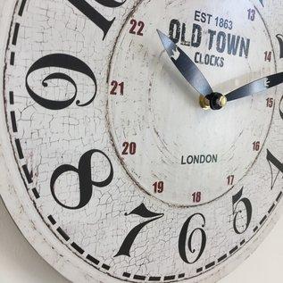 NiceTime Wanduhr OLD TOWN LONDON RETRO VINTAGE DESIGN