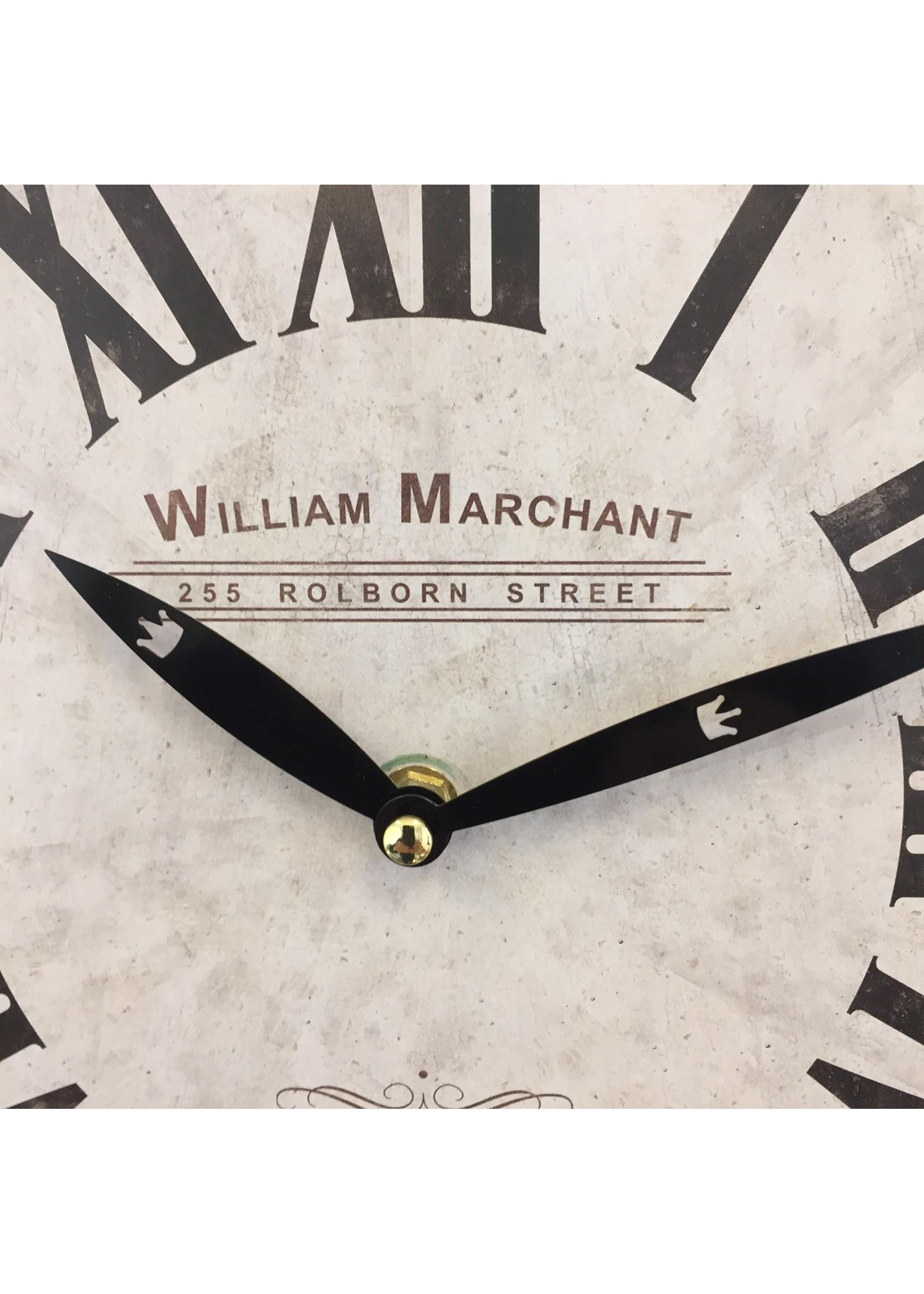 NiceTime Wandklok William Marchant BLANC VINTAGE
