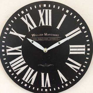NiceTime Wandklok William Marchant VINTAGE RETRO NOIR