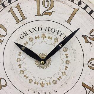 NiceTime Wanduhr Grand Hotel Londen Vintage retro wit