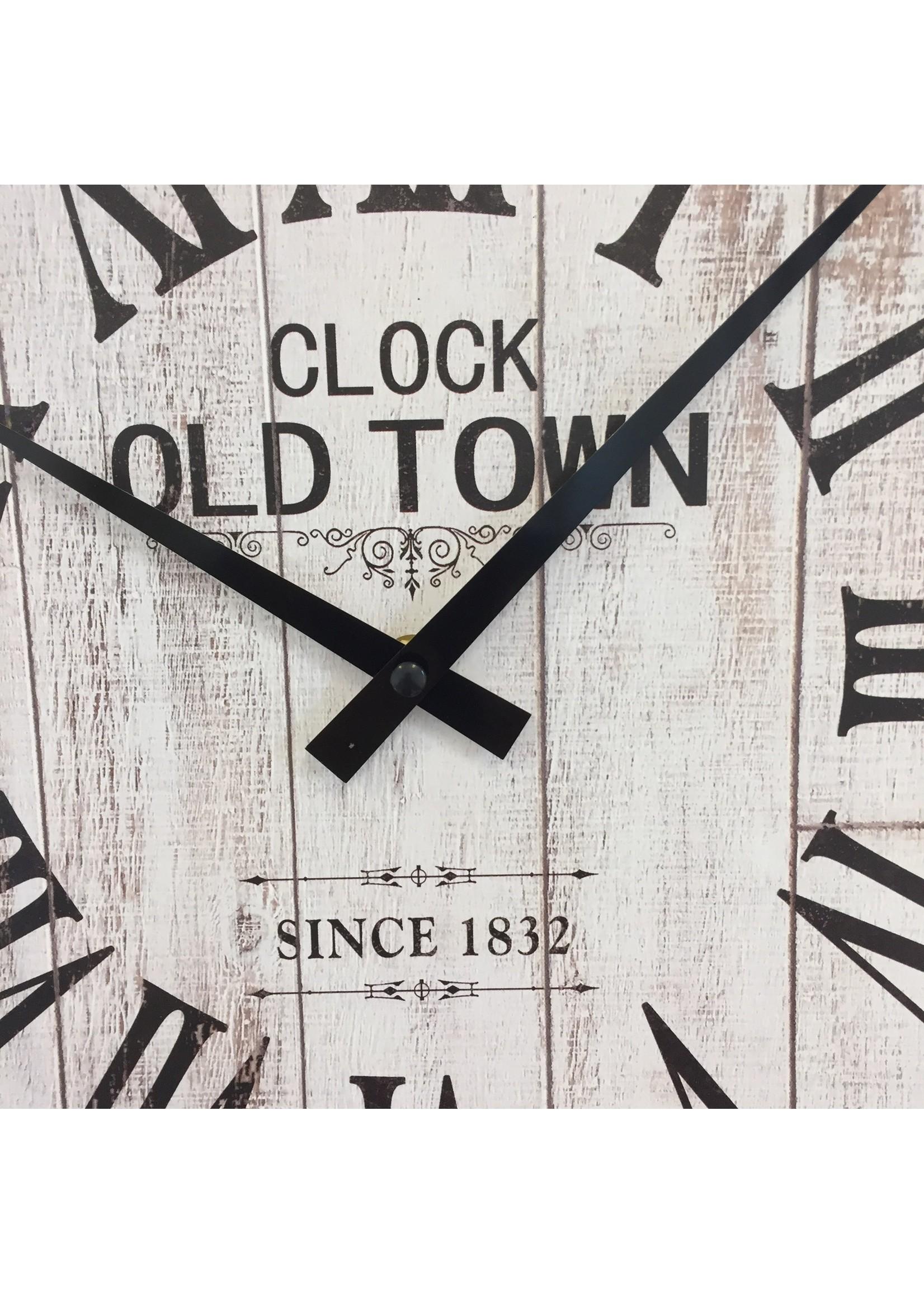 NiceTime Wandklok OLD TOWN 1832 Vintage RETRO