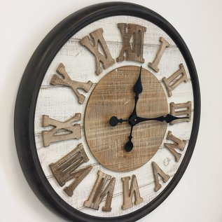 NiceTime Wandklok ROMAN WOOD DESIGN INDUSTRIEEL