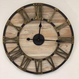 NiceTime Wanduhr aus Metall und Holz Industrial Design