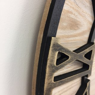NiceTime Wanduhr Metal & Wood Industrial Design