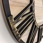 NiceTime Wandklok Metal & Wood Industrial Design