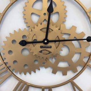 Klokkendiscounter Wanduhr Golden Nugget Vintage Industrieel