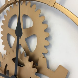 Klokkendiscounter Wandklok Golden Nugget Vintage Industrieel