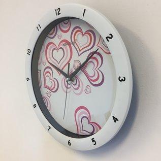 NiceTime Wanduhr Purle Heart Modern Design