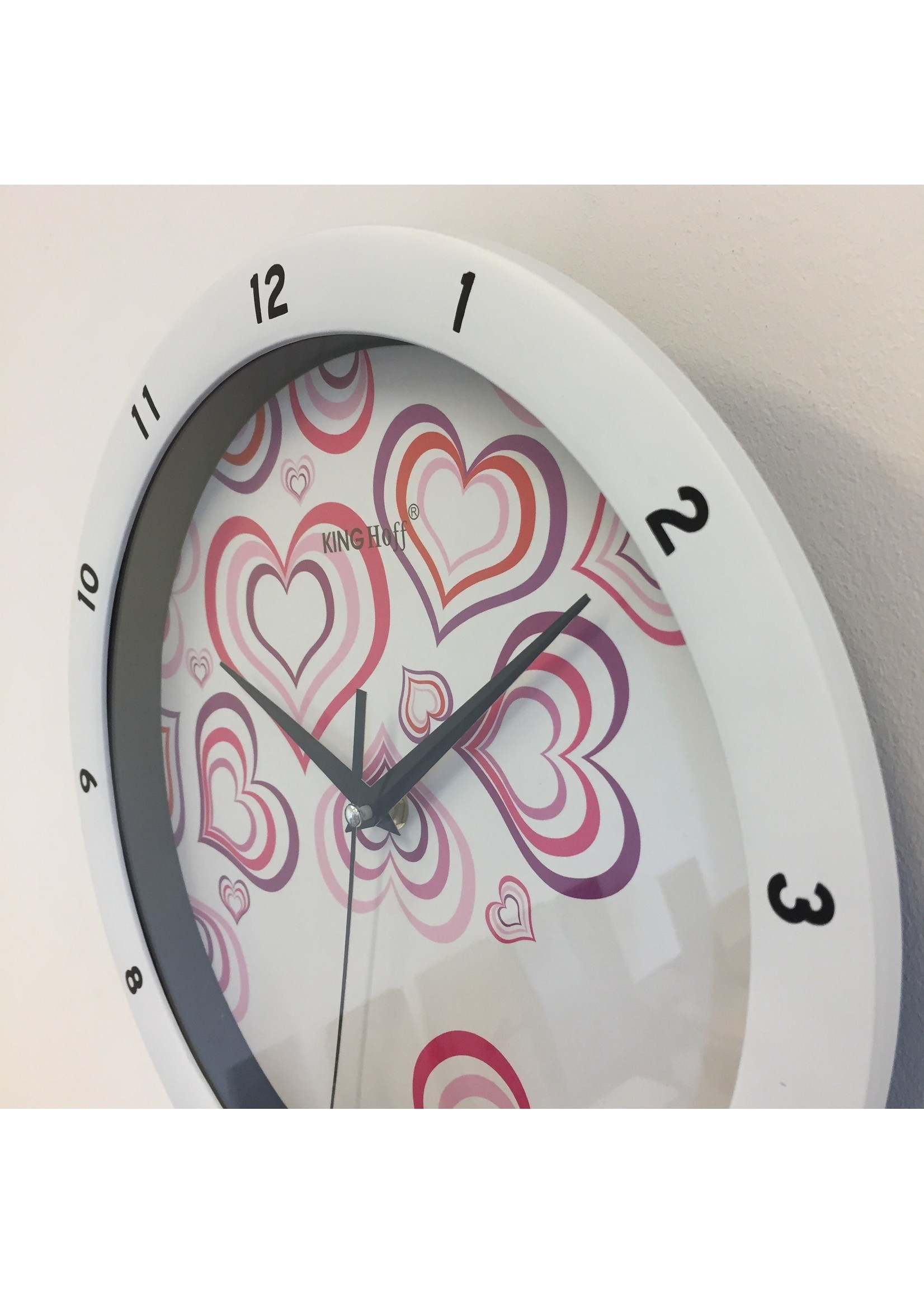 NiceTime Wandklok Purle Heart Modern Design