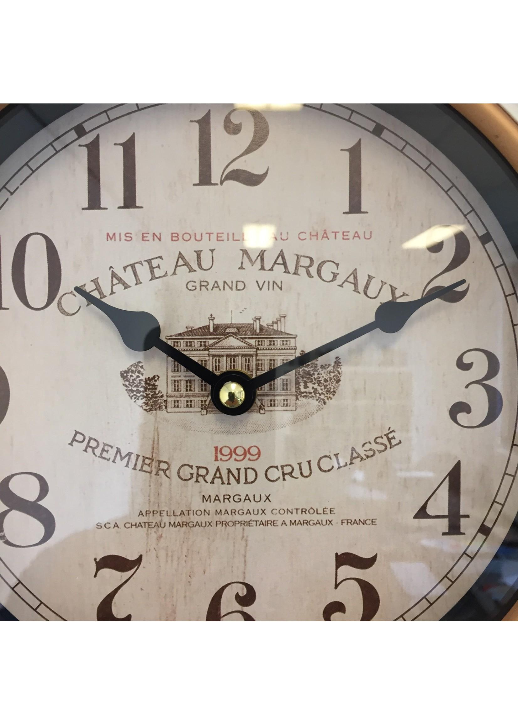 NiceTime Wandklok retro Chateau Margaux Vintage