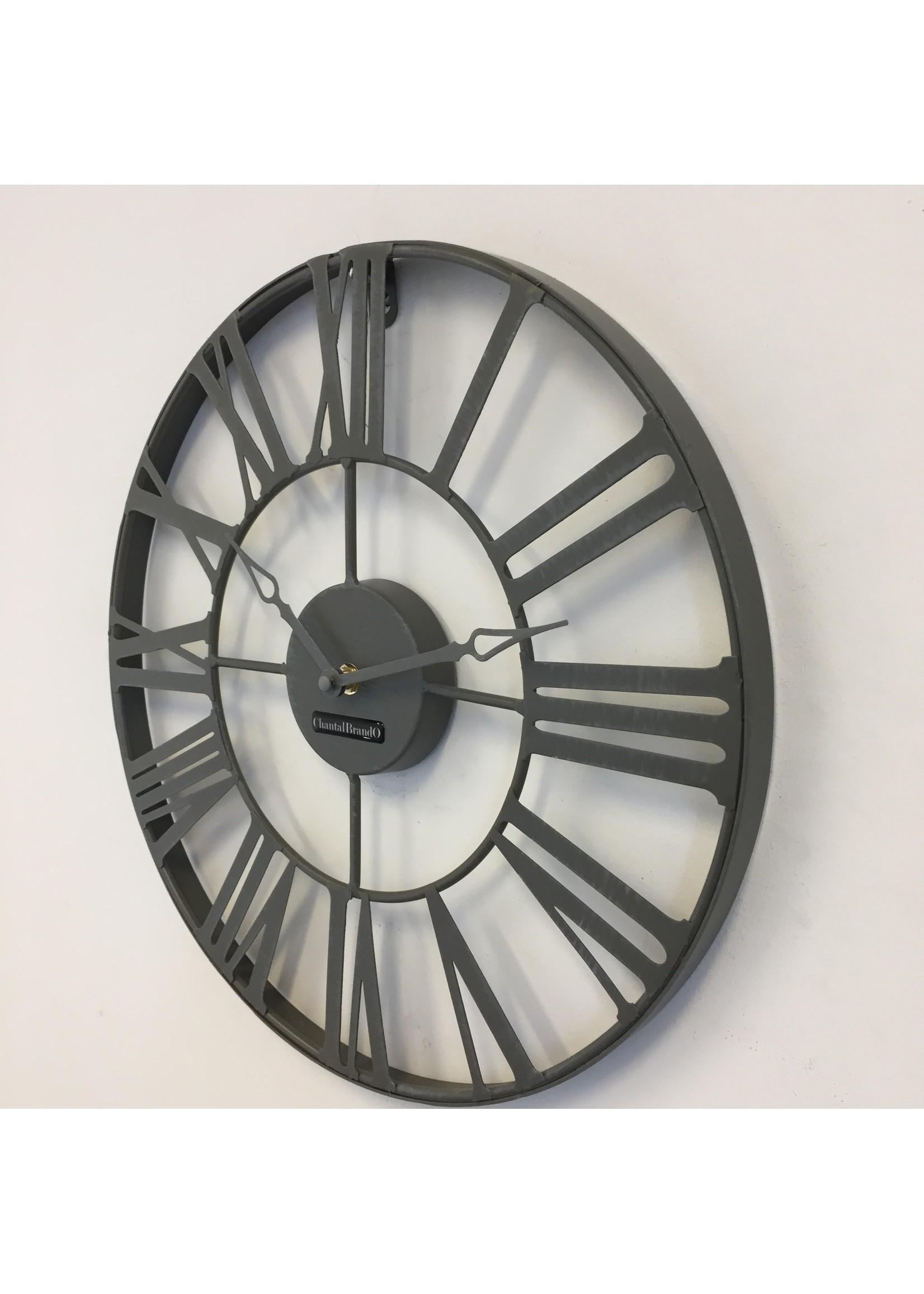 Klokkendiscounter Wandklok Vintage Grey 37 Industrieel