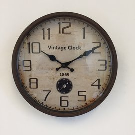 NiceTime Wandklok 1869 Industrieel Vintage