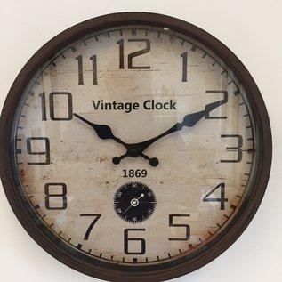 NiceTime Wanduhr 1869 Industrieel Vintage