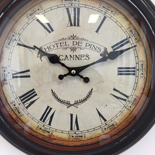 NiceTime Wanduhr Hotel des Pins Cannes Vintage