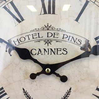 NiceTime Wandklok Hotel des Pins Cannes Vintage