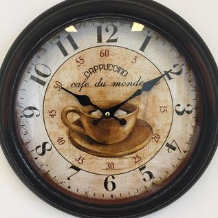 NiceTime Wanduhr Cappuccino Vintage Retro Industrial
