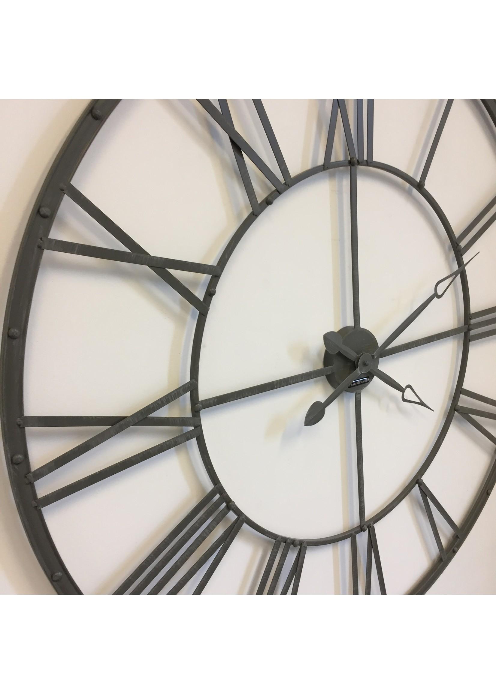 Klokkendiscounter Wandklok The GREY XXL Vintage Industrieel Design