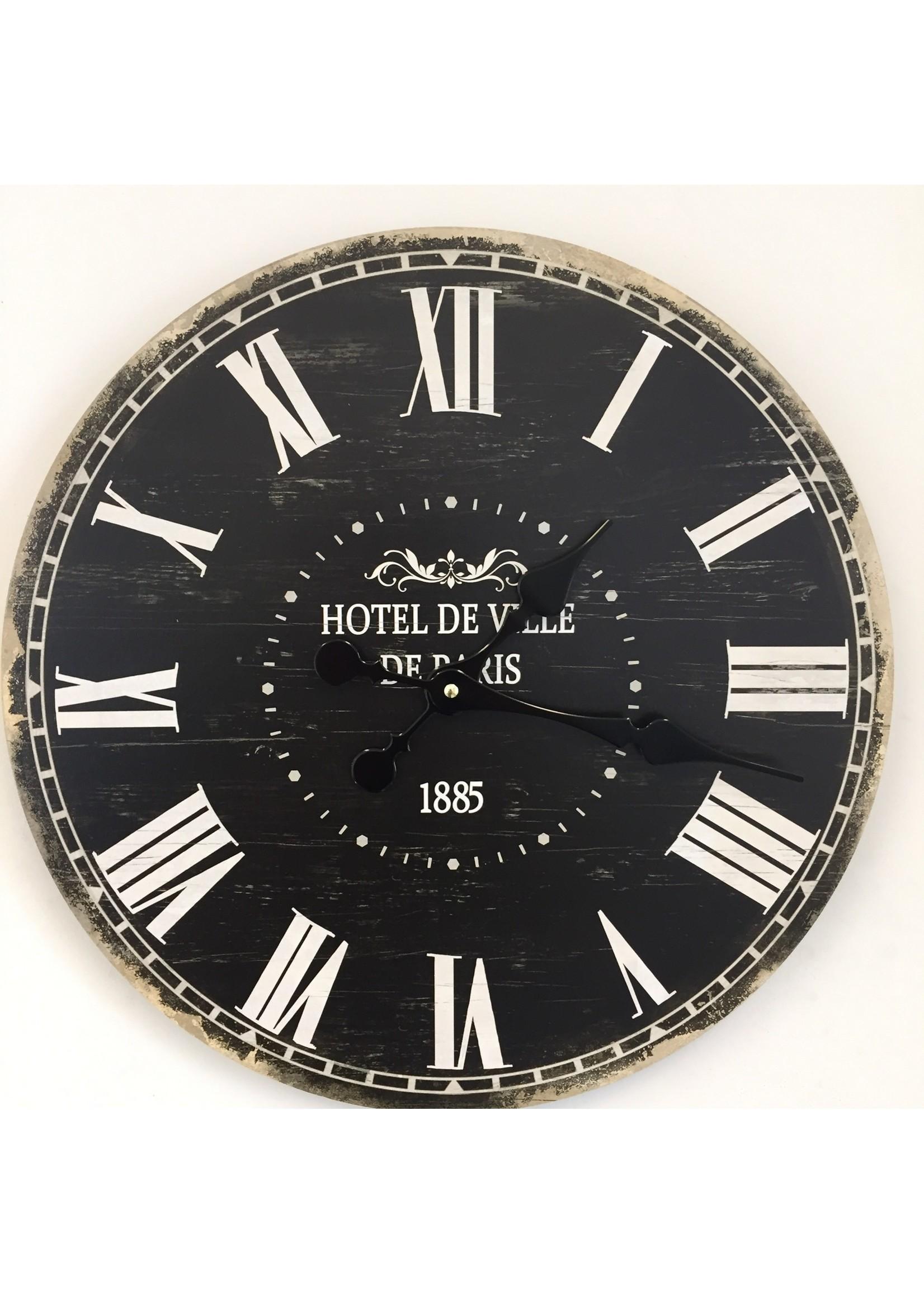 NiceTime Wandklok hotel de Ville 1885 Vintage Industrieel