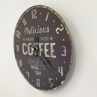 NiceTime Wanduhr Coffee Brown Vintage Industrieel