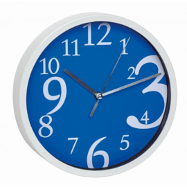 TFA Wanduhr blau modernes Design