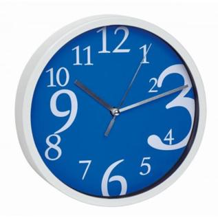 TFA Wanduhr blauw modern design