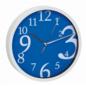 TFA Wandklok blauw modern design